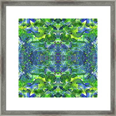 Love And Protect Our Living Gaia #1519 Framed Print by Rainbow Artist Orlando L aka Kevin Orlando Lau