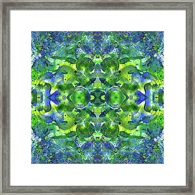Love And Protect Our Living Gaia #1520 Framed Print by Rainbow Artist Orlando L aka Kevin Orlando Lau