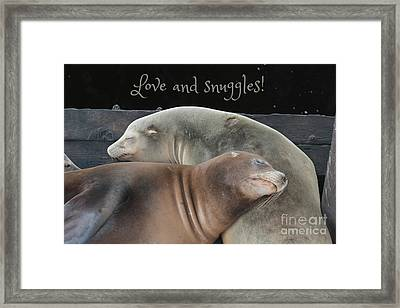Love And Snuggles Framed Print by Carol Groenen