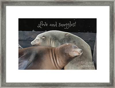 Love And Snuggles Framed Print