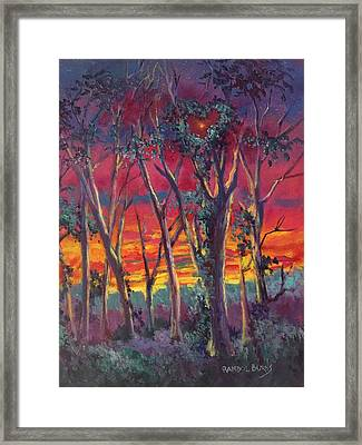 Love And The Evening Star Framed Print
