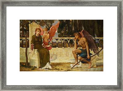 Love And Time Framed Print by John Melhuish Strudwick