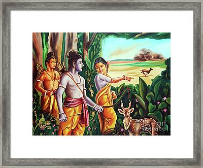 Love And Valour- Ramayana- The Divine Saga Framed Print by Ragunath Venkatraman
