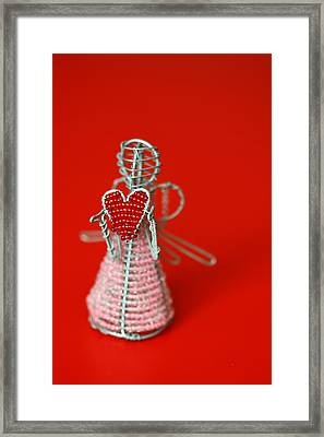 Love Angel Framed Print by Evelina Kremsdorf