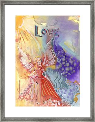 Love Angel Framed Print