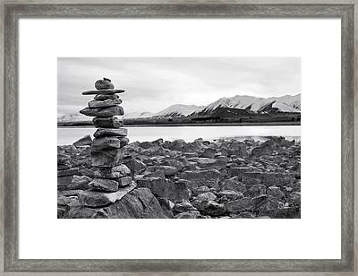 Love Anonymous Framed Print by Andrea Cadwallader