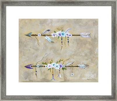 Love Arrows Framed Print