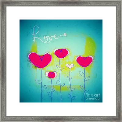 Love Art - 144a Framed Print by Variance Collections