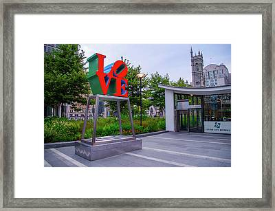 Framed Print featuring the photograph Love At Dilworth Plaza - Philadelphia by Bill Cannon