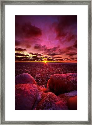 Love At First Light Framed Print by Phil Koch