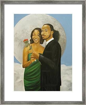 Love At Full Moon Framed Print by Angelo Thomas