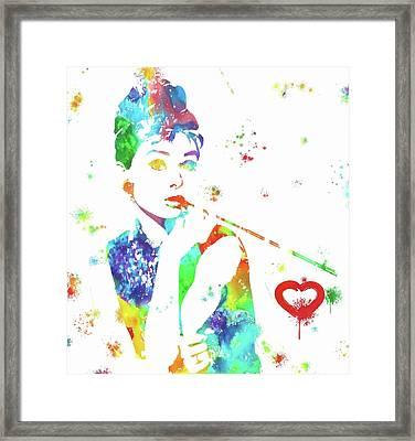 Love Audrey Hepburn Framed Print