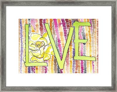 Love Back Through Time Framed Print by Faith Teel