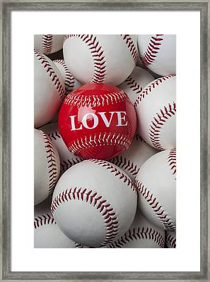 Love Baseball Framed Print