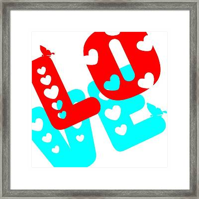 Framed Print featuring the digital art Love by Bee-Bee Deigner