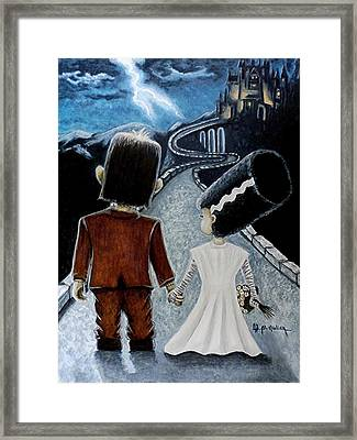 Love Begins With A Spark Framed Print
