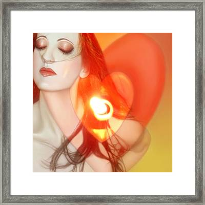 Love Begins Within - Self Portrait  Framed Print by Jaeda DeWalt