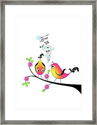 Love Bird Serenade Framed Print