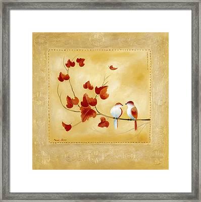 Love Birds 12 Framed Print by Michal Shimoni