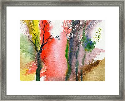 Love Birds 2 Framed Print by Anil Nene