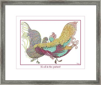 Love Birds Dancing Framed Print