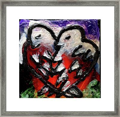 Framed Print featuring the painting Love Birds by Genevieve Esson
