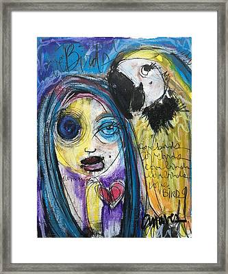 Love Birds Framed Print by Laurie Maves ART