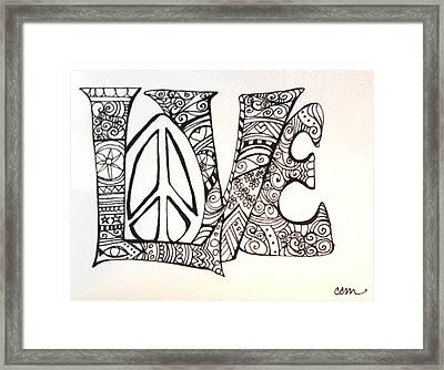 Love Bits Framed Print