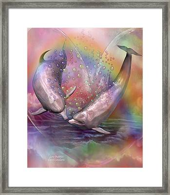 Love Bubbles Framed Print