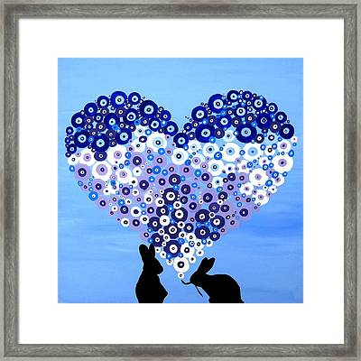 Love Bunnies Framed Print by Cathy Jacobs