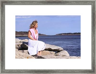 Love By The Sea Framed Print by Tom Johnson