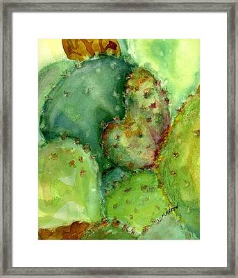 Love Cactus Framed Print by Marilyn Barton