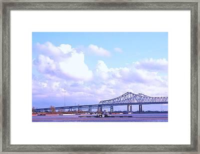 Love Can Build A Bridge Framed Print by Gracey Tran