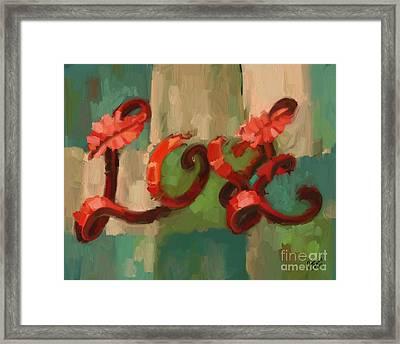 Love Framed Print by Carrie Joy Byrnes