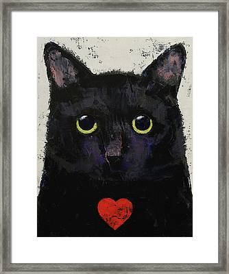 Love Cat Framed Print by Michael Creese