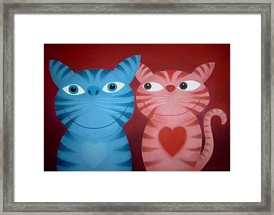 Love Catz Framed Print