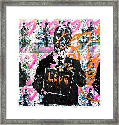 Love Chaplin Framed Print
