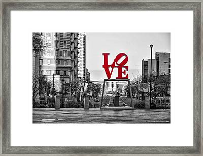 Love Colors The World Framed Print