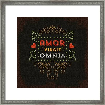 Love Conquers All Framed Print by Antique Images