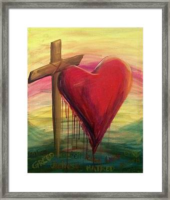Love Covers All Framed Print