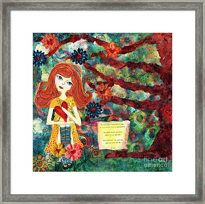 Love Creates Art Framed Print