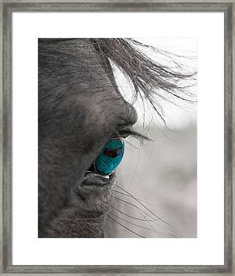 Love Does Not Desert  Framed Print by Betsy Knapp