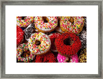 Love Donuts Framed Print by Garry Gay