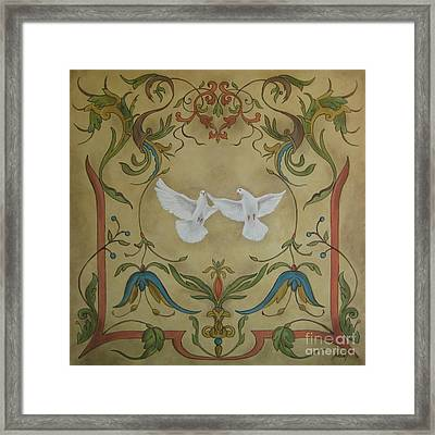 Love Doves Framed Print by Jindra Noewi