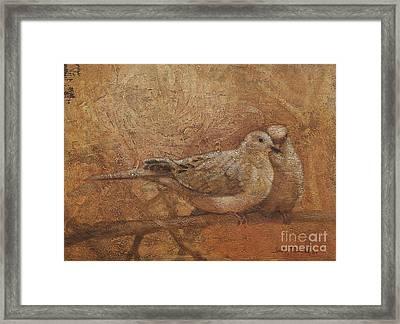Love Doves Framed Print by Sandra Quintus