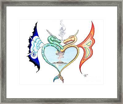 Love Dragons Framed Print by Robert Ball