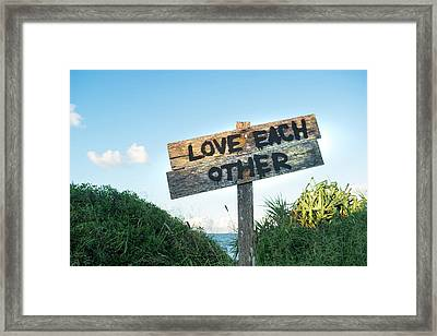 Love Each Other Framed Print