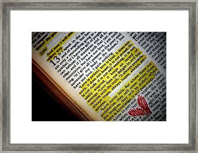 Love Framed Print by Elizabeth Babler