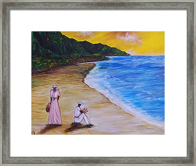 Framed Print featuring the painting Love by Emery Franklin