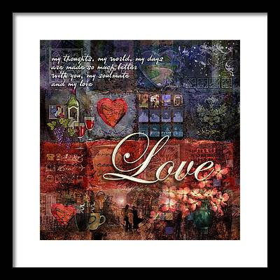 Soul Mate Framed Prints